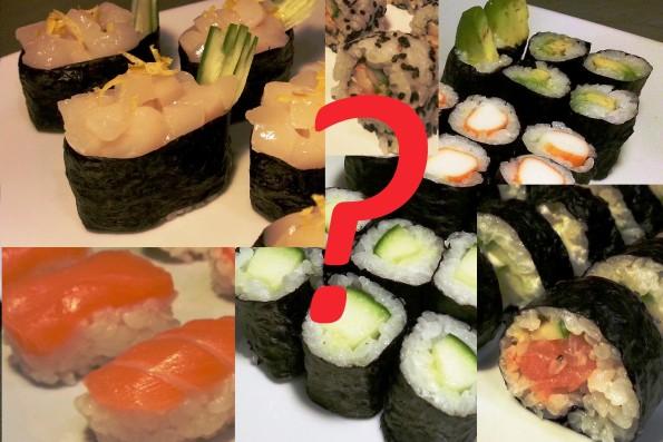 Welche Arten von Sushi gibt es?