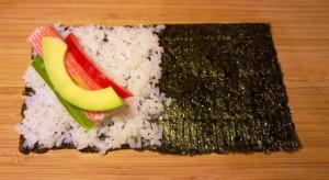 Vorbereitung Temaki - handgerollte Sushi