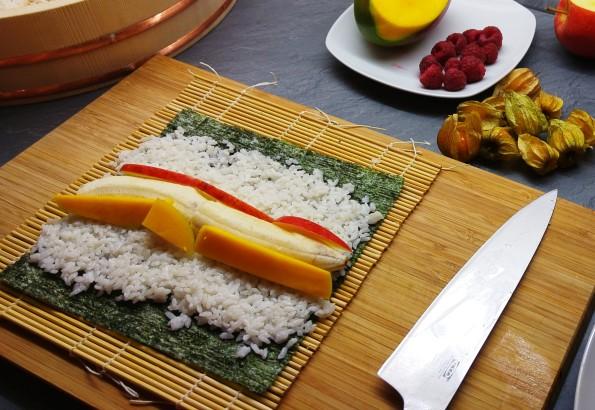 Vorbereitung Fruchtiges Sushi