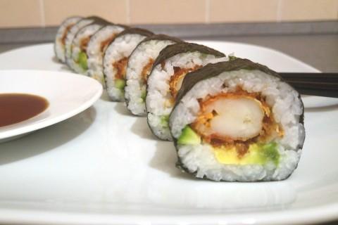 Futo Maki mit frittierter Garnele 2