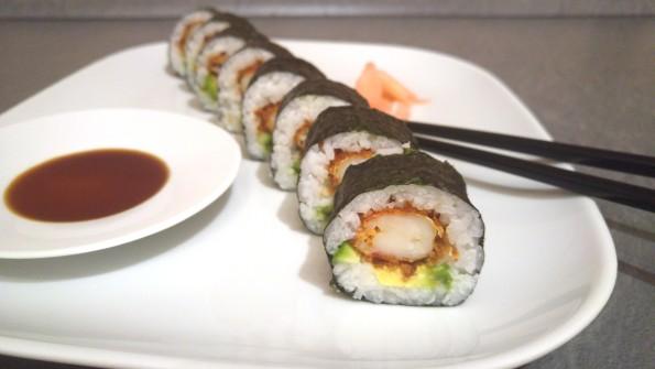 Futo Maki mit frittierter Garnele
