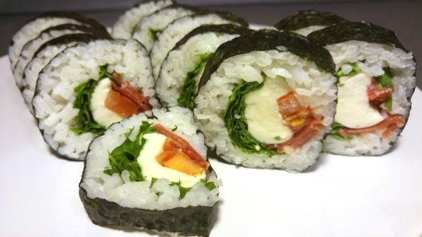 Italienisches Sushi - Nahaufnahme