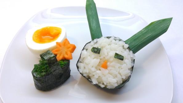 Sushi Osterhase mit Körbchen