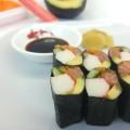 Sushi ohne Reis angerichtet
