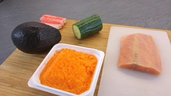 Zutaten für Sushi ohne Reis