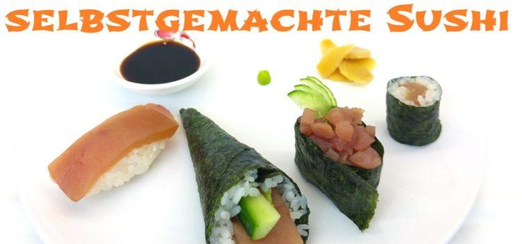 Zutaten und Hilfsmittel um Sushi selber zu Hause zu machen