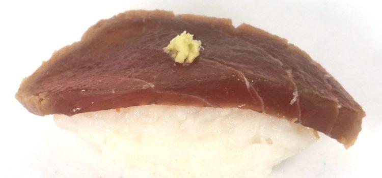 """Nigiri mit eingelegtem Thunfisch """"maguro zuke"""""""