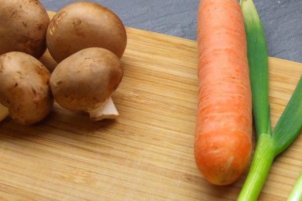 Gesundes Gemüse für Sushi