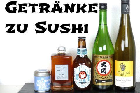 Die besten Getränke zu Sushi