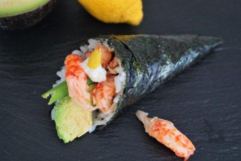 Flusskrebse im Sushi
