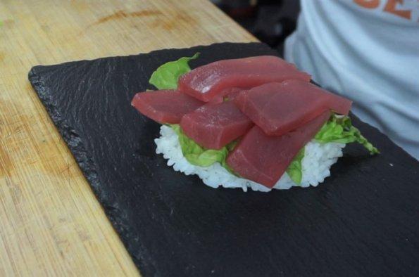 Sushi Burger belegen